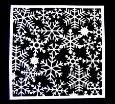 4 Large Square Snowflake Frame Christmas Die Cuts, Toppers. Any Colour/Card