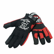 WEST COAST CHOPPERS BLACK & RED PAY UP SUCKER GLOVES **BRAND NEW**