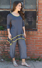 NEW Inside Out Boho Comfy Relaxed Trendy Micky Tunic Grey Sunshine Size S-XXL