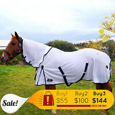 Unicorn Mesh Combo Horse Rug 400Gsm Durable Fly Sheet Size 4'9 ~ 69 UV n Insects