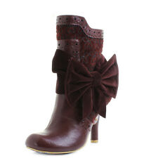 Womens Irregular Choice Rosie Lea Bordo Red Heeled Ankle Boots Size