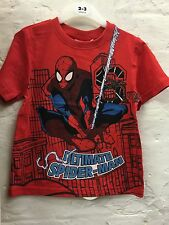 Kids Boys Ultimate Spiderman Character Red T-shirt Top Size 2-8 Years
