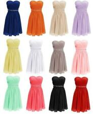 Short Cocktail Homecoming Dress Beads Sash Party Prom Formal Bridesmaid Gown Q98