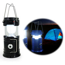 Rechargeable USB Power Bank Solar LED Camping Light Outdoor Hiking Fishing Light