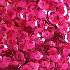 Sequins Fuchsia 5mm Round Cup ~1,000 pieces or ~12,500 pieces Loose HQ