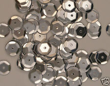 Sequins Silver 8mm Round Cup ~400 pieces or ~4,750 pieces Loose HQ