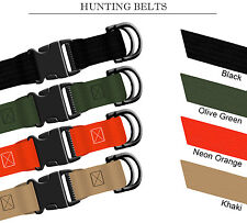 """1 1/2"""" Nylon Hunting Belt Side Release Buckle & D-Rings X-Small Cole Alpine Mfg"""