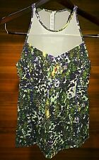 NWT Lululemon Running in the City Tank Top Sz 6 Small White Floral Sport NEW