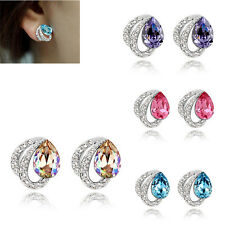 Crystal Rhinestone Women's Dangle Hook Ear Earrings Jewelry Stud Fashion HOT