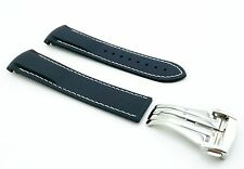 NAVY BLUE 20mm Rubber/Silicone STRAP/BAND FOR OMEGA WATCH SeaMaster PLANET OCEAN