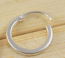 1 Piece 925 Sterling Silver Septum Nose Ring Tribal Jewelry Indian Septum Ring