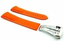 ORANGE 20mm Rubber/Silicone STRAP/BAND FOR OMEGA WATCH SeaMaster PLANET OCEAN