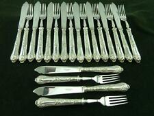 Very Nice vintage 10 setting 20 piece Fisheaters Set  silver plated EPNS