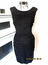 PHASE EIGHT BLACK JUSTINE RUCHED DRESS 12 V GOOD CONDITION