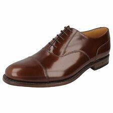 Mens 200CH Brown leather laces up shoes by LOAKE G FITTING