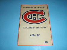VTG NHL HOCKEY MONTREAL CANADIENS 1961-62 YEARBOOK CARD BELIVEAU PLANTE RICHARD