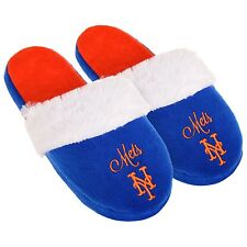 NY New York Mets Womens Colorblock Fur Slide Slippers MLB New  Style