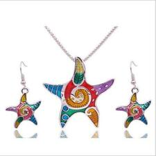 New Starfish Jewelry Sets Drip Necklace Earrings Beach Vintage Bohemia Resin