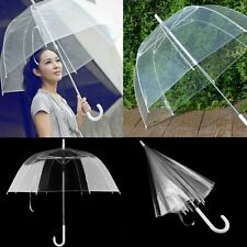 Transparent Clear Automatic Umbrella Parasol For Wedding Party Favor F7