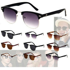 Retro Vintage Oval Inspired Classic Half Frame Horned Rim Sunglasses Hot Women