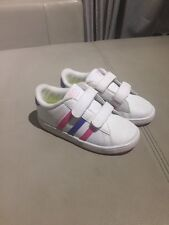 Cute Adidas 'Neo' Girls Sneakers, White, Size 26 (9 US, 8.5 UK)