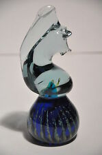 VINTAGE MDINA ART GLASS SEAHORSE PAPERWEIGHT UNSIGNED