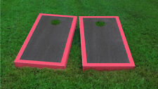 Premium Pink Border Onyx Stained Cornhole Board Game Set