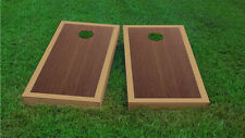 Premium Dark Gold Border Rosewood Stained Cornhole Board Game Set