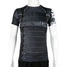 Winter Soldier Bucky Barnes Short Sleeves 3D T-Shirts Captain America 3 Costumes