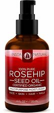 InstaNatural Organic Rosehip Seed Oil - 100% Pure - Natural Moisturizer for Face