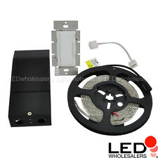 UL 12V 16.4-ft Flexible LED Strip Kit with Dimmable Driver + Wall Dimmer Switch