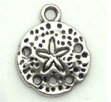 20/200 PCS Tibetan silver Craft Jewelry Hollow out Starfish DIY Charms Pendants