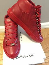 Balenciaga Arena Sneaker in Rouge Grenade RED