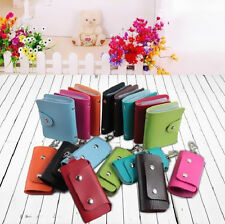 2PC 24 Card Holder Key Holder Package Wallets Key Case Credit Card PU Leather