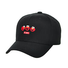 HA05.Sesame Street Mini Elmo Cotton Baseball Cap Hat Adjustable Unisex Men Women