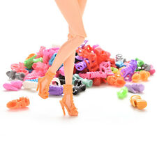 15/30/60 Pairs Trendy Multiple Styles Shoes High Heels For Barbie Doll Clothes G