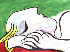 Picasso Nude Sleeping Woman Oil Canvas Miro Painting Renoir Abstract Art Cubism