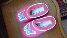 THE SLIPPER COMPANY PINK MULE SLIPPERS SIZE 10 GIRLS.