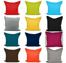 """Plain Dyed Cushion Cover 100%Cotton Duck Quality Size 16""""x16""""(40cm) Piped Edge"""