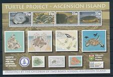 [31490] Ascension 2000 Marine Life Turtle project Stamp show 2000 MNH Sheet