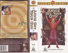 ANNIE GET YOUR GUN HOWARD KEEL VHS VIDEO PAL~ A RARE FIND