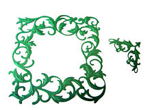 5 Embossed Ivy Deco Frame/Corner, Christmas, Die Cuts, Tonic Studios. Any Colour