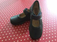 BRAND NEW WITHOUT BOX BLUE LEATHER GIRLS SCHOOL SHOES FROM STEP2WO RRP £45