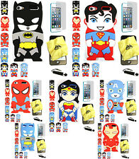 iPod Touch 5th 6th Generation 3D JUSTICE LEAGUE SUPERHERO Soft Silicone Case
