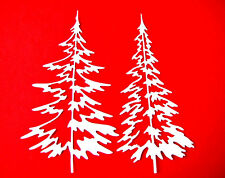10 Winter Pine Tree (5 of 2 sizes) - Christmas Die Cuts, Tim Holtz. Any Colour