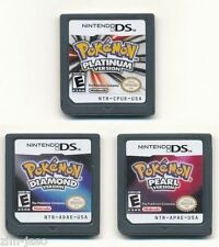 New Nintendo Pokemon: Platinum,Diamond,Pearl (US Version) Game Card For Any 3DS
