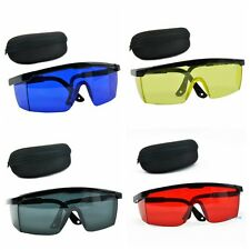 Safety Laser Glasses Goggles Eye Protection With Box RED DARK BLUE BLACK YELLOW