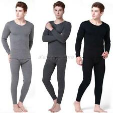 Mens Boys Cotton Thermal Underwear Set Winter Warm Long Johns Tops Bottom New