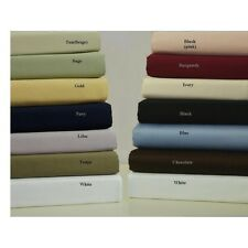 Luxurious Bedding 1qty Fitted Sheet Full Size 1000TC Egyptian Cotton Selct Color