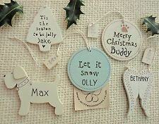 personalised ornament shabby chic style christmas decoration by East of India